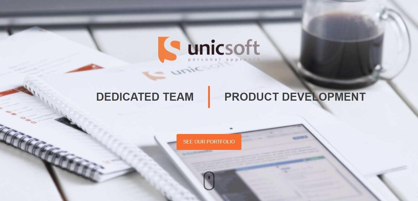 Unicsoft website in 2016